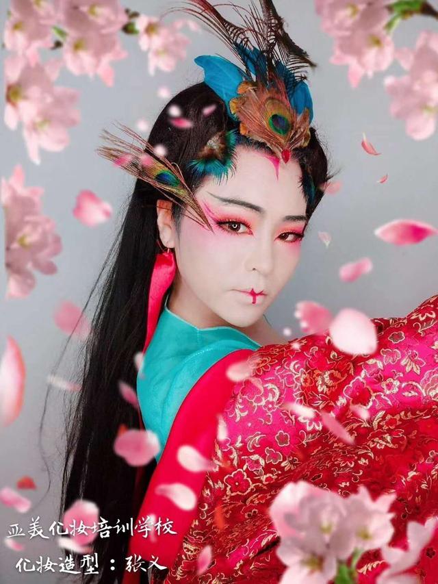 昆山专业的化妆培训学校昆山韩式纹绣学校--张义老师化妆百变造型